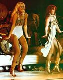 Abba girls (Agnetha and Frida) shaking their stuff on stage!
